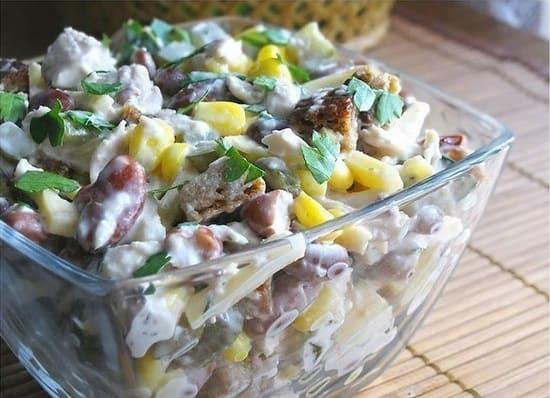 сасалат с курицей - отличный белковый завтрак для похудения