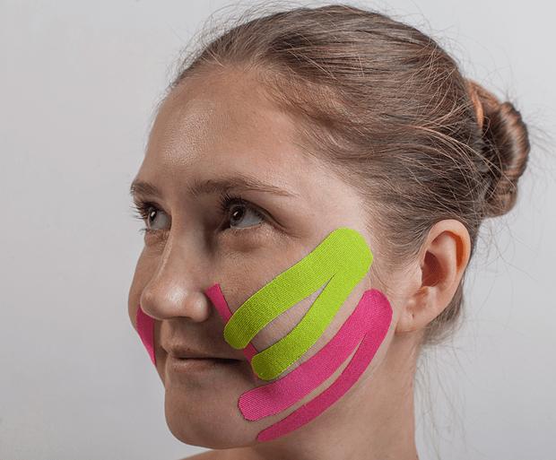 Схема тейпирования носогубных складок