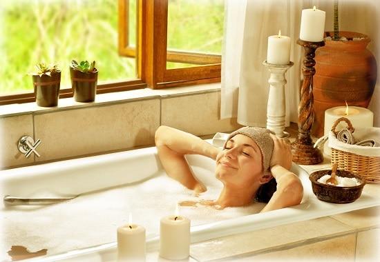 ванна с экстрактом ромашки