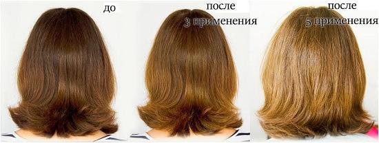 Маска для волос с корицей и медом до и после