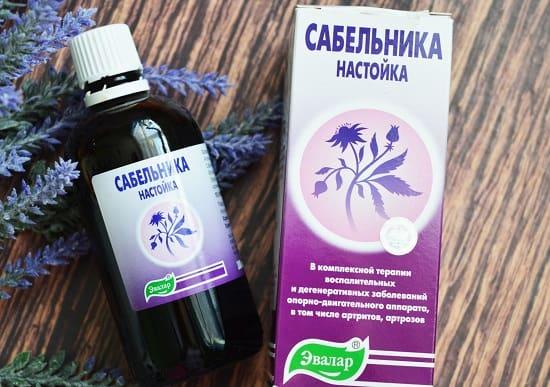 аптечный препарат настойки сабельника от суставов