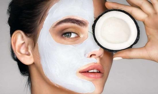 маска для лица с кокосовым маслом