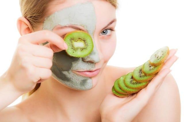 маска из киви для лица
