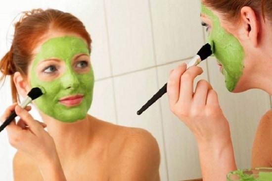 маска из петрушка для лица