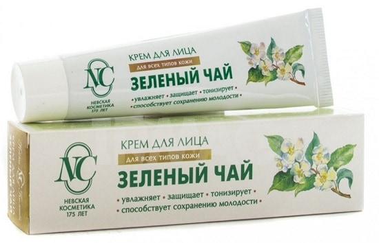Косметика на основе зеленого чая для лица