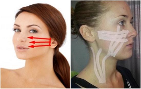 Техника выполнения лимфодренажного тейпирования лица