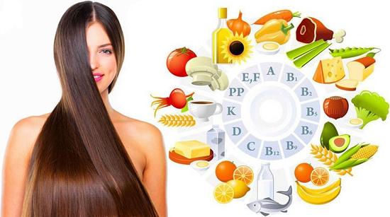 продукты, полезные для волос, содержат в себе все необходимые витамины для волос