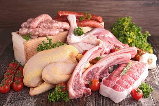 белковые продукты: мясо