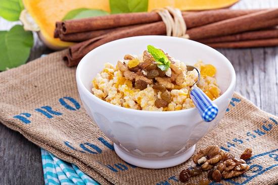 рецепты здорового питания: пшенная каша с тыквой