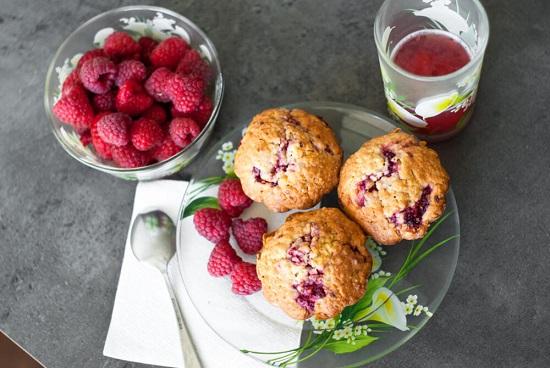 диета при сахарном диабете 2 типа: рецепт яблочных кексов с малиной