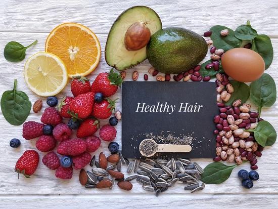 продукты от седых волос
