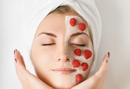 маска для лица из малины улучшает состояние кожи
