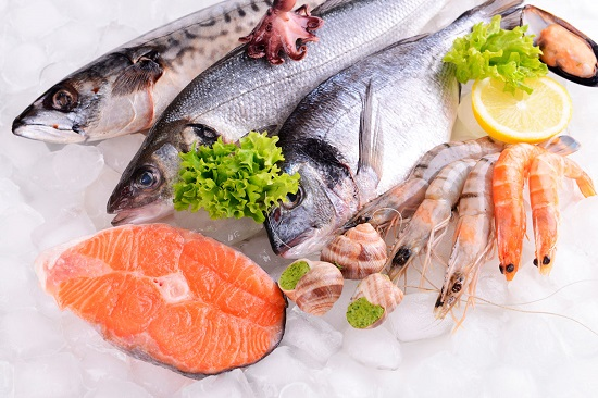 морская рыба - продукт с высоким количеством Омега-3 и других кислот